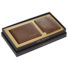 Buy Ted Baker Giftwho Wallet and Card Holder Gift Set, Tan Online at johnlewis.com