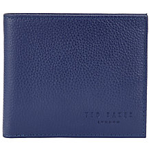 Buy Ted Baker Cassova Bifold Zip Leather Wallet, Blue Online at johnlewis.com