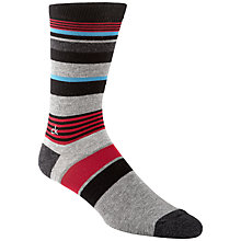Buy Calvin Klein Multi Stripe Logo Socks, One Size, Black/Red Online at johnlewis.com