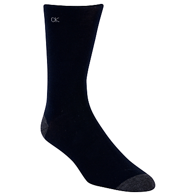 Calvin Klein Egyptian Cotton Fil d'Ecosse Socks, One Size, Navy