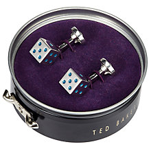 Buy Ted Baker Dice Cufflinks, Silver Online at johnlewis.com