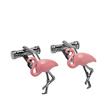 Buy Ted Baker Sahara Flamingo Cufflinks, Pink Online at johnlewis.com