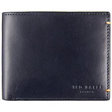 Buy Ted Baker Aunat Colour Block Leather Wallet, Navy Online at johnlewis.com