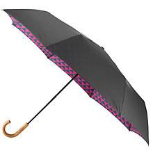 Buy Ted Baker Simonne Printed Compact Umbrella, Navy/Red Online at johnlewis.com