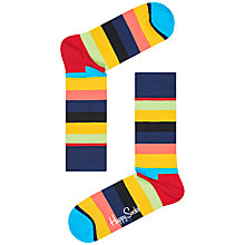 Buy Happy Socks Stripe Socks, One Size, Pastel Online at johnlewis.com