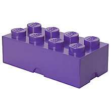 Buy LEGO 8 Stud Storage Brick, Lilac Online at johnlewis.com