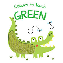 Buy Colours To Touch Green Board Children's Book Online at johnlewis.com
