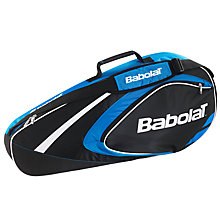 Buy Babolat Club Line 3 Racket Bag, Black/Blue Online at johnlewis.com
