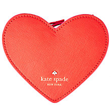 Buy kate spade new york Heart Leather Coin Purse, Red Online at johnlewis.com