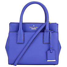 Buy kate spade new york Cameron Street Mini Candace Leather Satchel, Nightlife Blue Online at johnlewis.com