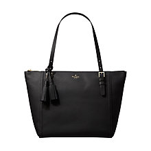 Buy kate spade new york Orchard Street Maya Leather Tote Bag, Black Online at johnlewis.com