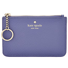 Buy kate spade new york Leather Card Holder, Oyster Blue Online at johnlewis.com