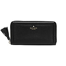 Buy kate spade new york Orchard Street Lacey Leather Zip Around Purse, Black Online at johnlewis.com