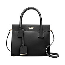 Buy kate spade new york Cameron Street Mini Candace Leather Satchel, Black Online at johnlewis.com