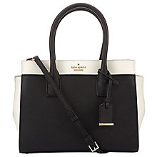 Buy kate spade new york Cameron Street Small Candace Leather Satchel, Black / Cement Online at johnlewis.com