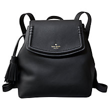 Buy kate spade new york Orchard Street Selby Leather Backpack, Black Online at johnlewis.com
