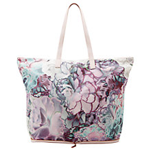 Buy Ted Baker Aynara Illuminated Bloom Foldaway Shopper Bag, Purple Online at johnlewis.com