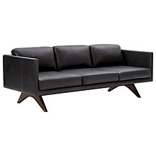 Buy west elm Brooklyn Leather 3 Seater Sofa, Liquorice Online at johnlewis.com