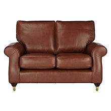 Buy John Lewis Hannah Small 2 Seater Leather Sofa, Castor Leg Online at johnlewis.com