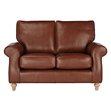 Buy John Lewis Hannah Small 2 Seater Leather Sofa, Light Leg Online at johnlewis.com