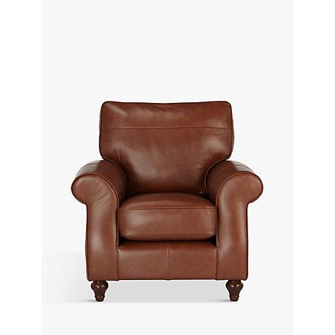 Buy John Lewis Hannah Leather Armchair Dark Leg John Lewis