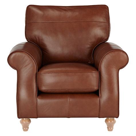 Buy John Lewis Hannah Leather Armchair Light Leg John Lewis