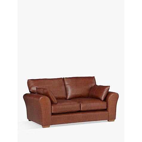 Buy John Lewis Leon Medium 2 Seater Leather Sofa Dark Leg