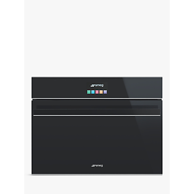 Smeg SF4604MCNX Dolce Stil Novo Integrated Combination Microwave, Black/Stainless Steel