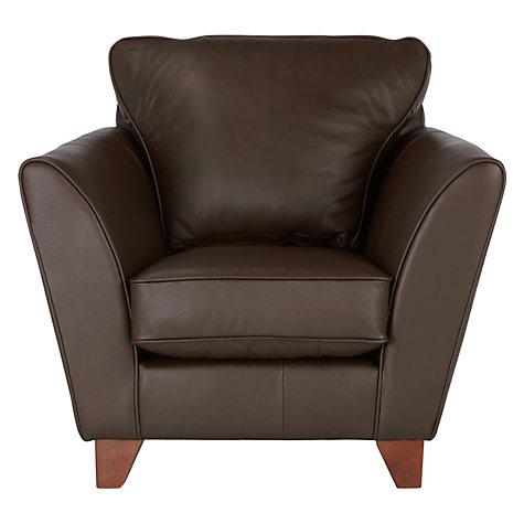 Buy John Lewis Oslo Leather Armchair Dark Leg John Lewis