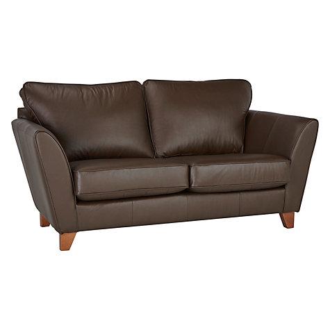 Buy John Lewis Oslo Small 2 Seater Leather Sofa Dark Leg