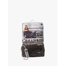 Buy Dreamland Relaxwell Deluxe Faux Fur Heated Throw, Grey Online at johnlewis.com