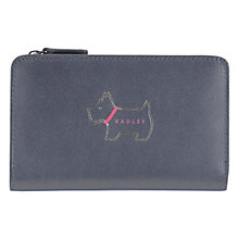 Buy Radley Heritage Dog Leather Medium Zip Purse, Navy Online at johnlewis.com