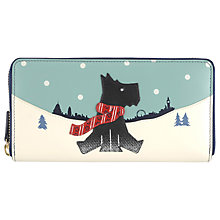 Buy Radley Snow Days Leather Zip Around Purse, Navy Online at johnlewis.com