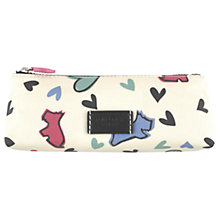 Buy Radley Love Me Love My Dog Pencil Case, Ivory Online at johnlewis.com