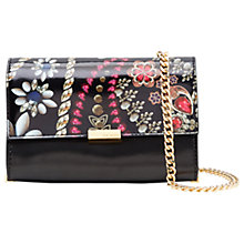 Buy Ted Baker Kerey Treasured Trinkets Leather Clutch Bag, Black Online at johnlewis.com