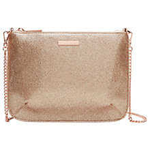 Buy Ted Baker Brigit Leather Glitter Across Body Bag, Straw Online at johnlewis.com