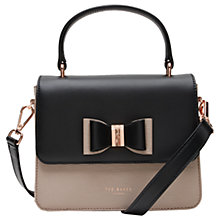 Buy Ted Baker 	Calila Leather Across Body Bow Bag Online at johnlewis.com
