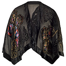Buy Chesca Butterfly Printed Silk Velvet Jacket Online at johnlewis.com