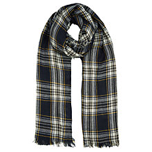 Buy Oasis Stephanie Check Scarf, Navy Online at johnlewis.com