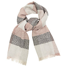 Buy Oasis Pretty Metallic Check Scarf, Multi Online at johnlewis.com