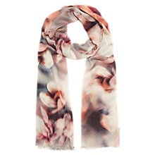 Buy Jacques Vert Magnolia Print Scarf, Dark Neutral Online at johnlewis.com