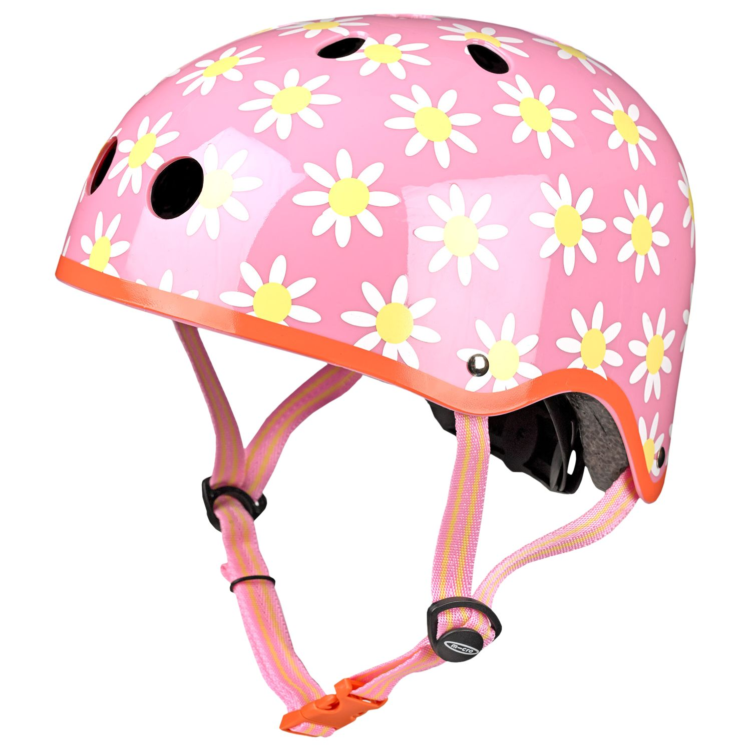 Micro Micro Scooter Daisy Safety Helmet, Pink/Multi, Medium