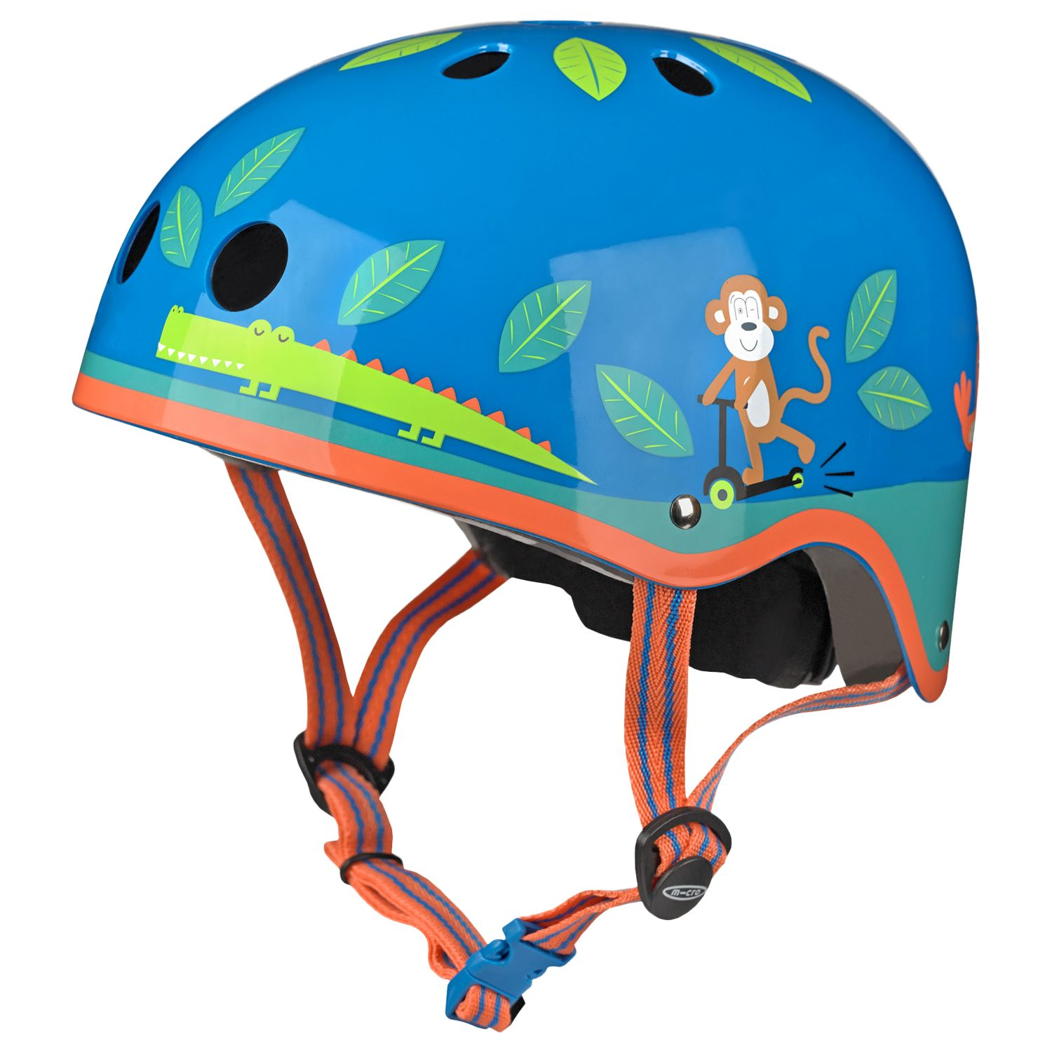 Micro Micro Scooter Wildlife Safety Helmet, Blue/Multi, Medium
