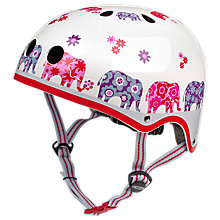 Buy Micro Scooter Elephant Safety Helmet, White/Multi, Medium Online at johnlewis.com