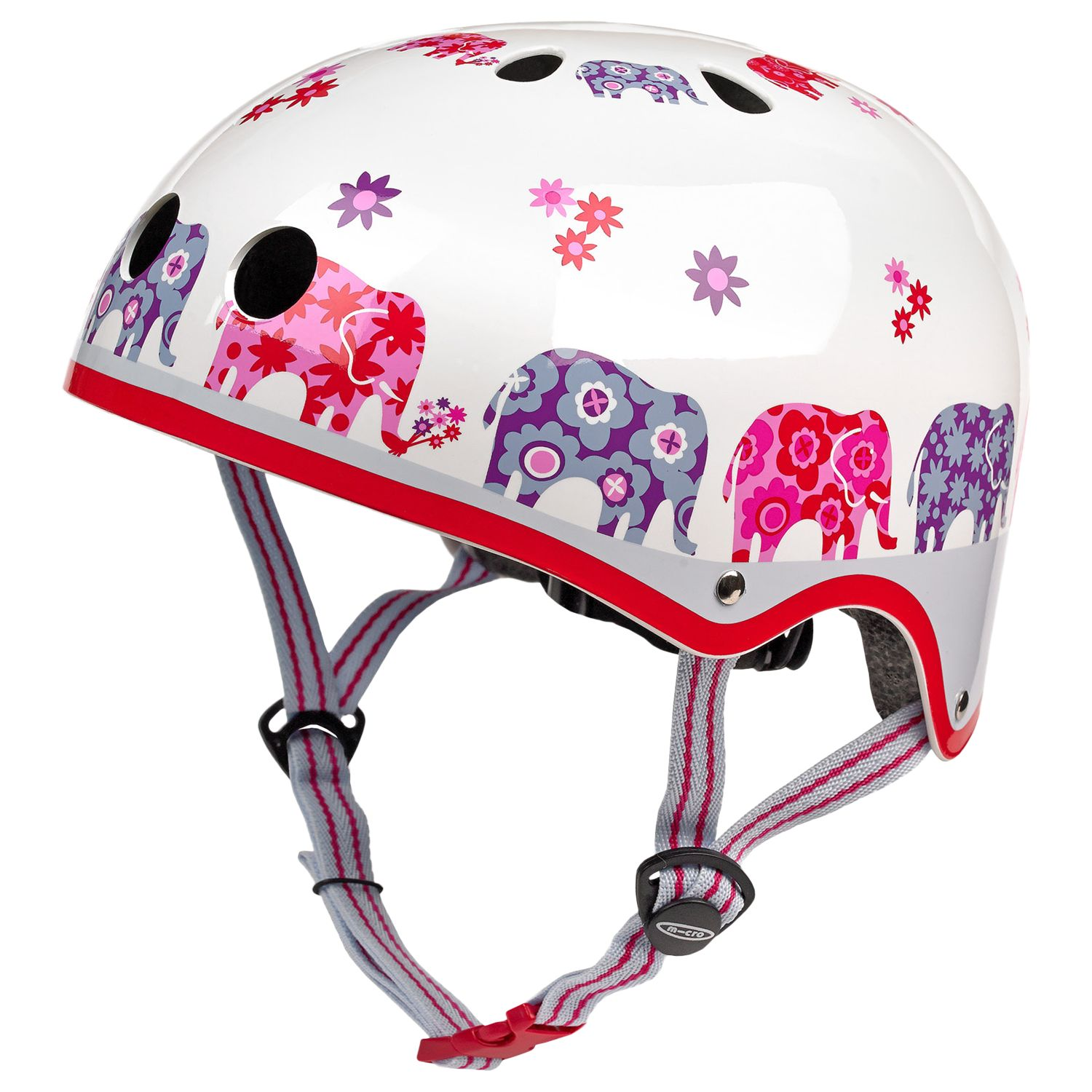 Micro Micro Scooter Elephant Safety Helmet, White/Multi, Medium