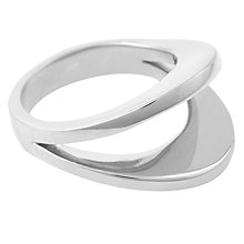 Buy Susan Caplan Double Curve Ring, Silver Online at johnlewis.com