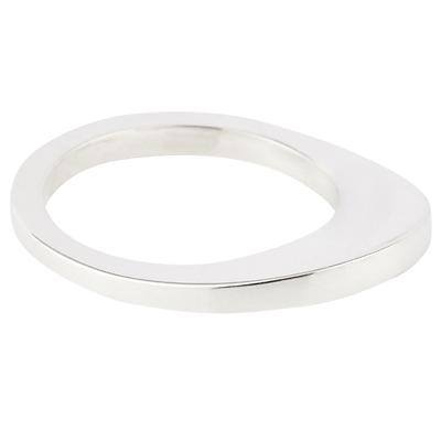 Susan Caplan Curve Ring, Silver