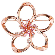 Buy Ted Baker Belvas Swarovski Crystal Blossom Brooch, Rose Gold Online at johnlewis.com