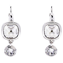 Buy Karen Millen Milano Swarovski Crystal Double Drop Earrings Online at johnlewis.com