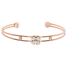 Buy Karen Millen Art Swarovski Crystal Flower Cuff Online at johnlewis.com